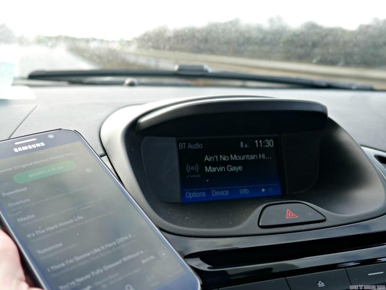 I LOVED listening to Spotify! No more stopping (in a safe place) to rummage in the glove compartment for the right CD!