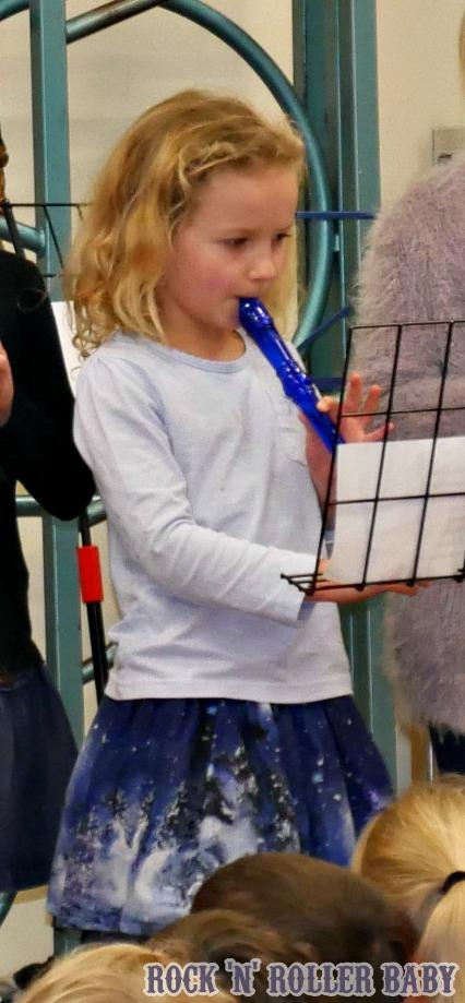 The recorder - which definitely doesn't sound as bad en masse and with a teacher over seeing as it does being trumpeted from her bedroom!