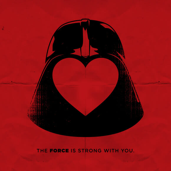 Declarao De Amor Geek Com Cartes De Darth Vader E