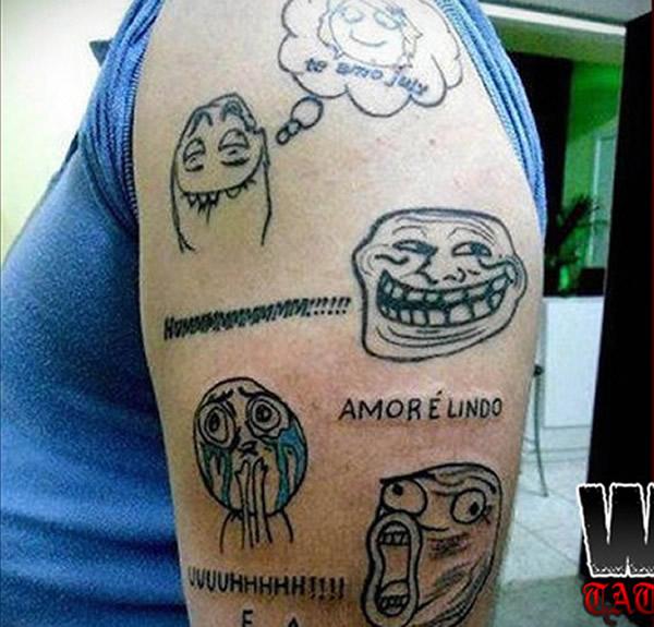 Resultado de imagem para Tatuagens escrotas