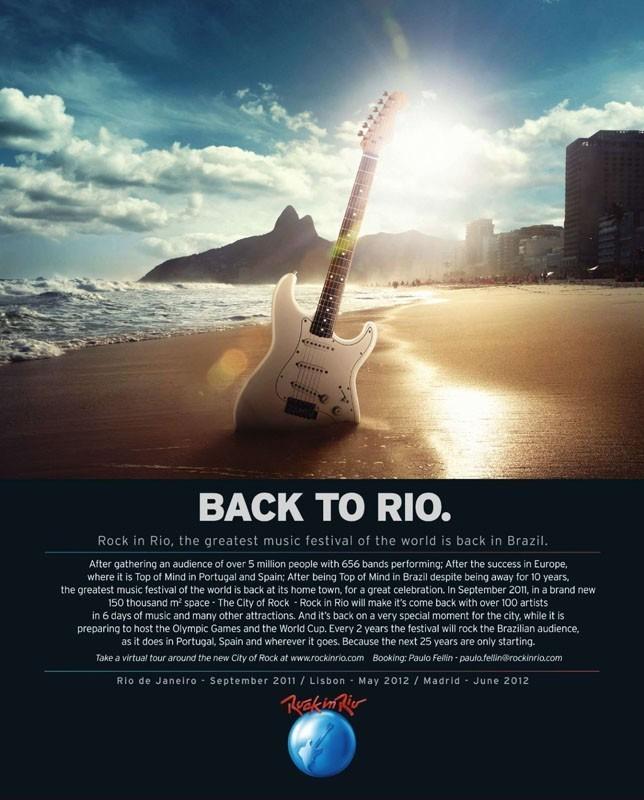 Anuncio publicado en la revista Billboard de Estados Unidos - Rock in Rio 2011