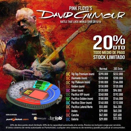 David Gilmour - Chile - 2015