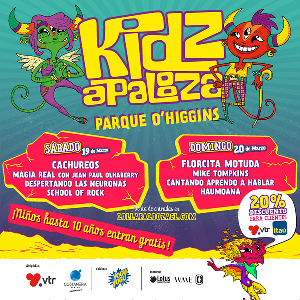Programacion Kidzapalooza 2016