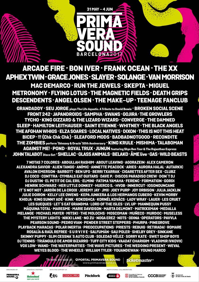 cartel de primavera sound 2017