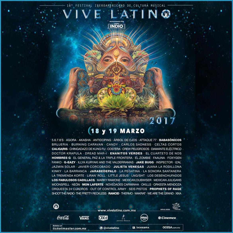 cartel de vive latino 2017