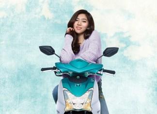 artis Isyana Sarasvati menjadi brand ambassador Yamaha Mio S Tubeless & Ban Lebar 125cc Blue Core
