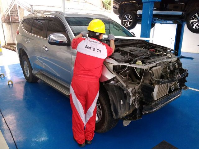 Fasilitas lengkap di Bodi & Cat Mitsubishi di Medan