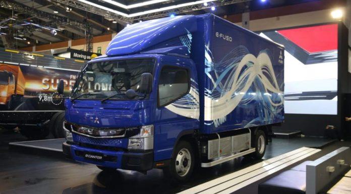 mitsubishi ecanter truk listrik