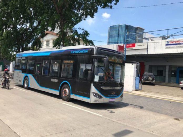higer bus listrik transjakarta
