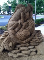Iguana Sand Sculpture