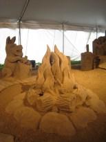 Sand Sculpture of Fire Pit