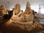 Sand Sculpture of Birds