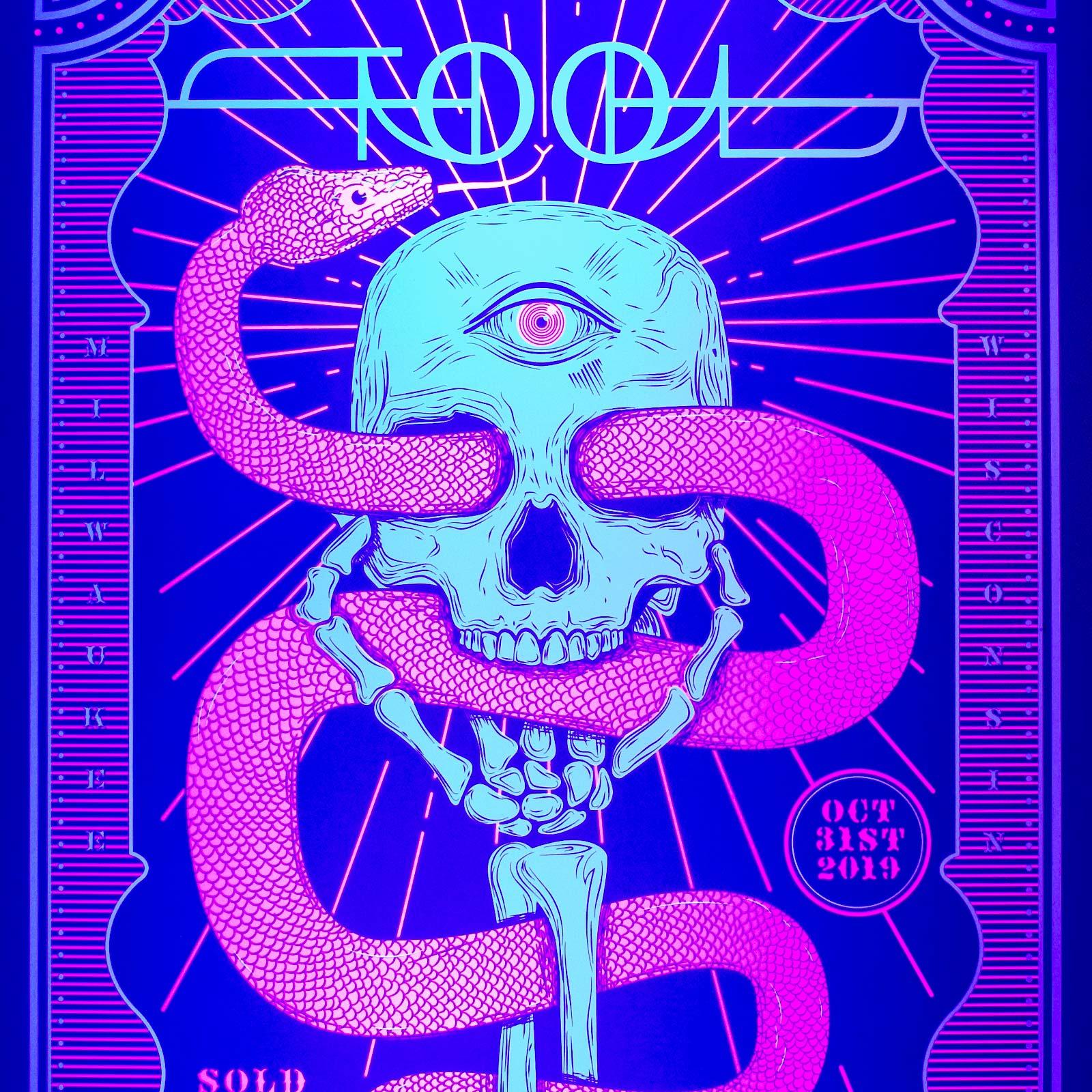 tool halloween concert poster milwaukee wisconsin