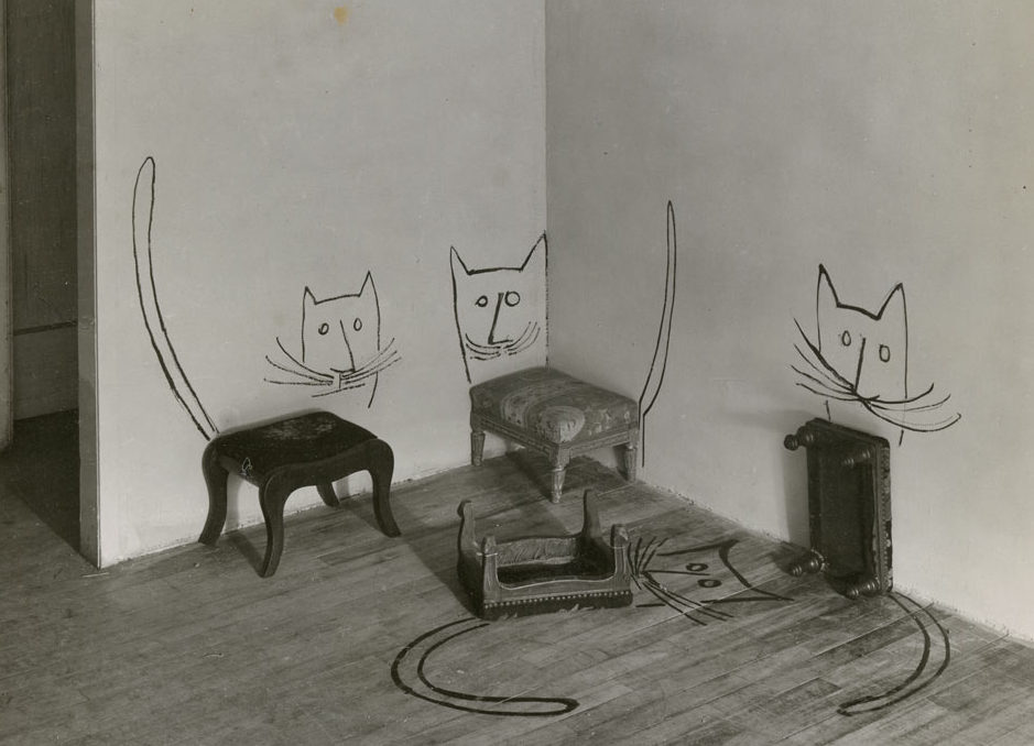 pisici Saul Steinberg