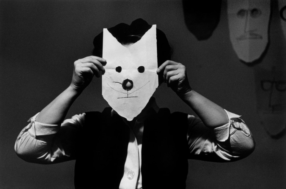 mască pisică Saul Steinberg