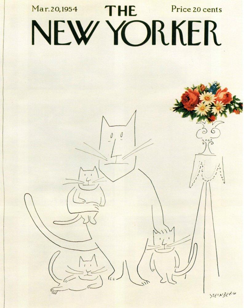 familie pisici Saul Steinberg The New Yorker