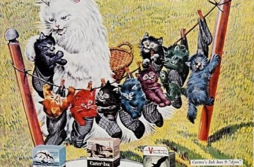 pisici in reclama la cerneala