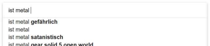 Ist Metal gefährlich? Screenshot Google