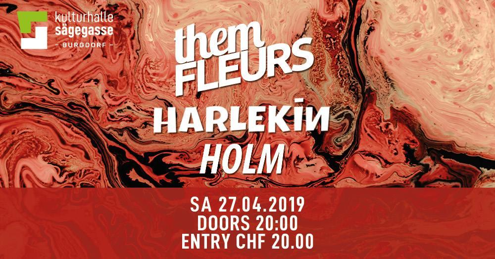 them fleurs,harlekin,holm in der kulturhalle sägegasse burgdorf.