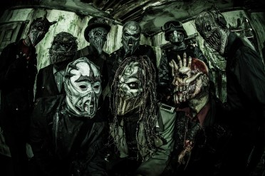 Mushroomhead is comprised of drummers Skinny, Robert Diablo and Stitch, vocalists JMann, Jeffrey Nothing & Waylon, keyboardist Schmotz, guitarist Church and bassist Dr. F
