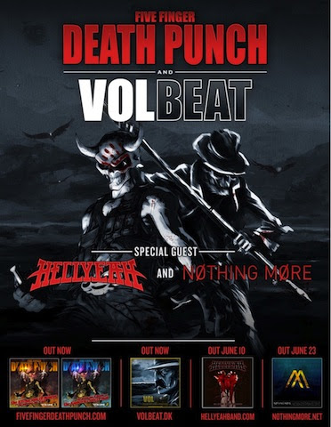 5fdp Volbeat Tour Global Rock Heavyweights Five Finger Punch