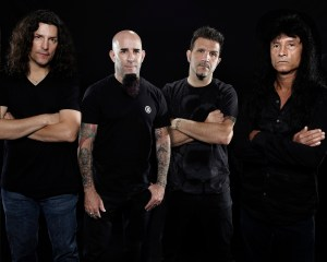 L-R:  Frank Bello, Scott Ian, Charlie Benante,  Joey Belladonna Photo Credit:  Matthew Rodgers