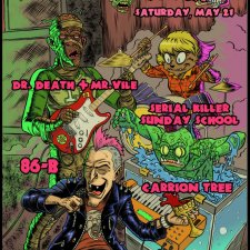 Catch  Carrion Tree, Dr. Death + Mr. Vile, Serial Killer Sunday School and 86-B Live for Colorado Monster Madness & Veterans In Trouble