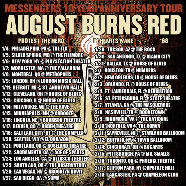 AUGUST BURNS RED TOUR