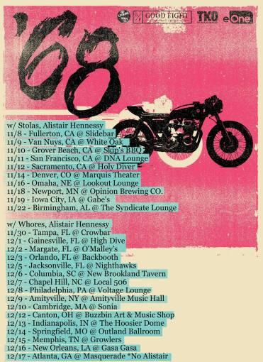 Upcoming '68 fall tour dates