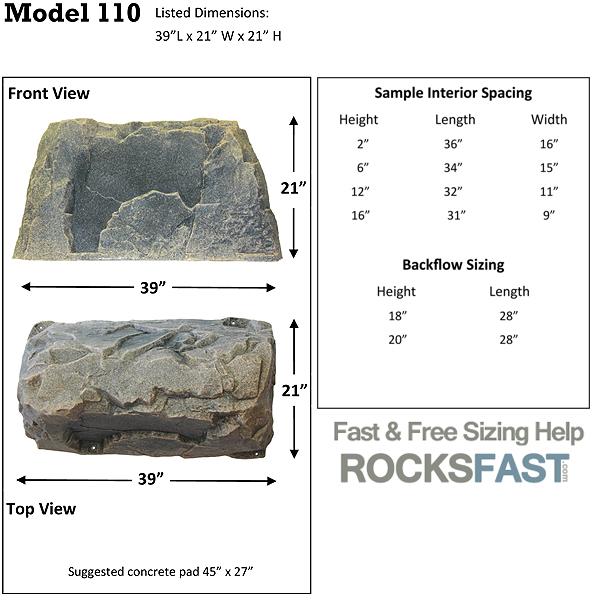 DekoRRa Mock Rock 110 Faux Rocks