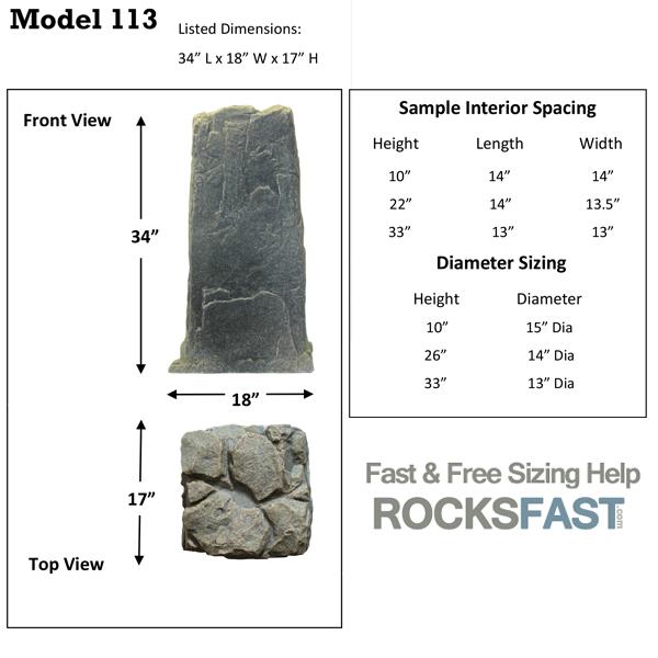 DekoRRa Mock Rock 113 Fake Rocks For Landscaping