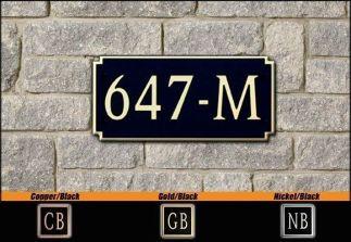 Dekorra Model 647 Personalized Address Plaque