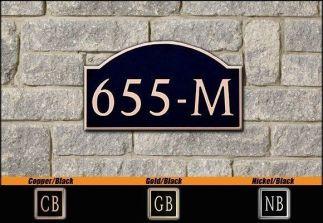 Dekorra Model 655 Personalized Address Plaque