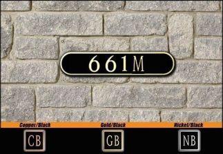 Dekorra Model 661 Personalized Address Plaque