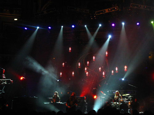 Opeth on stage at the royal albert hall