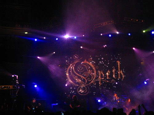Blackwater Park on stage at the royal albert hall