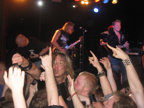 Rich Ward From Fozzy In The Crowd