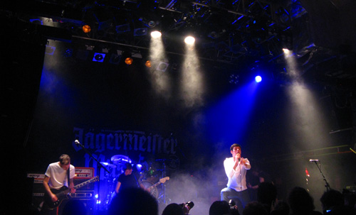 Exit ten on stage in Islington during the Jagermeister Tour