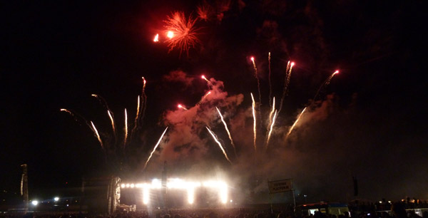 Firework Show at Download 2012 at Donington Park after the end of Black Sabbath's performance