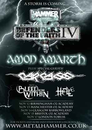 Defenders Of The Faith IV UK Tour Poster