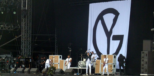 Young Guns on stage at Download 2013