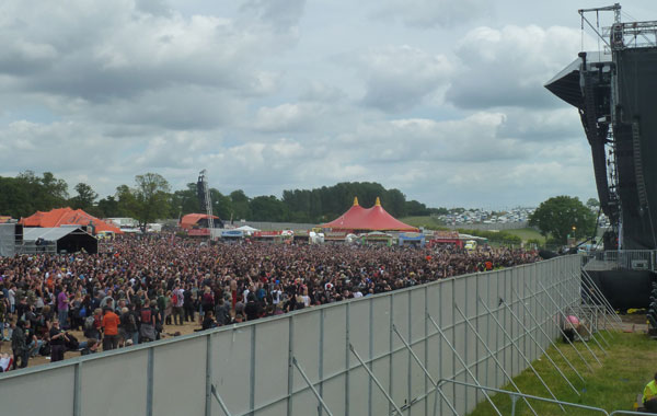 A shot of the crowd during Coal Chamber's performance at the 2013 Download Festival