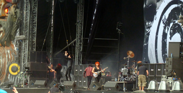 Crossfaith on the main Stephen Sutton stage at Download Festival 2014