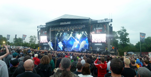 Trivium's full stage production complete with CO2 cannons at Download Festival 2014
