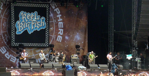 Reel Big Fish performing on the Saturn Stage at Sonisphere Knebworth 2014