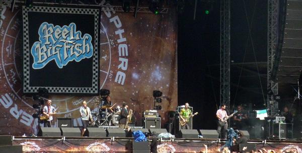Reel Big Fish performing on the Saturn Stage at Sonisphere Knebworth 2014