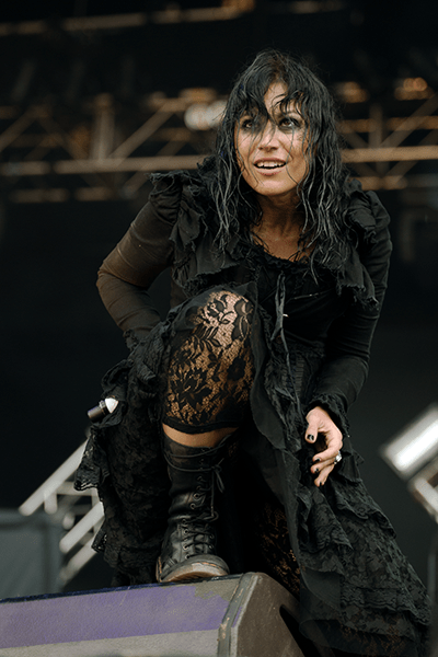 Christina Scabbia of Lacuna Coil, Bloodstock Open Air 2014 by Tess Donohoe