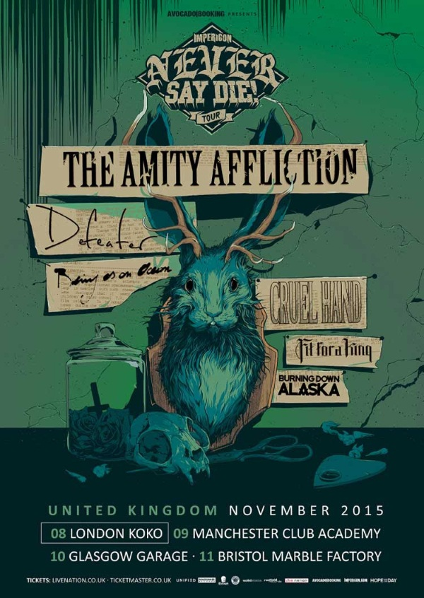 Impericon Never Say Die Tour UK 2015 Poster