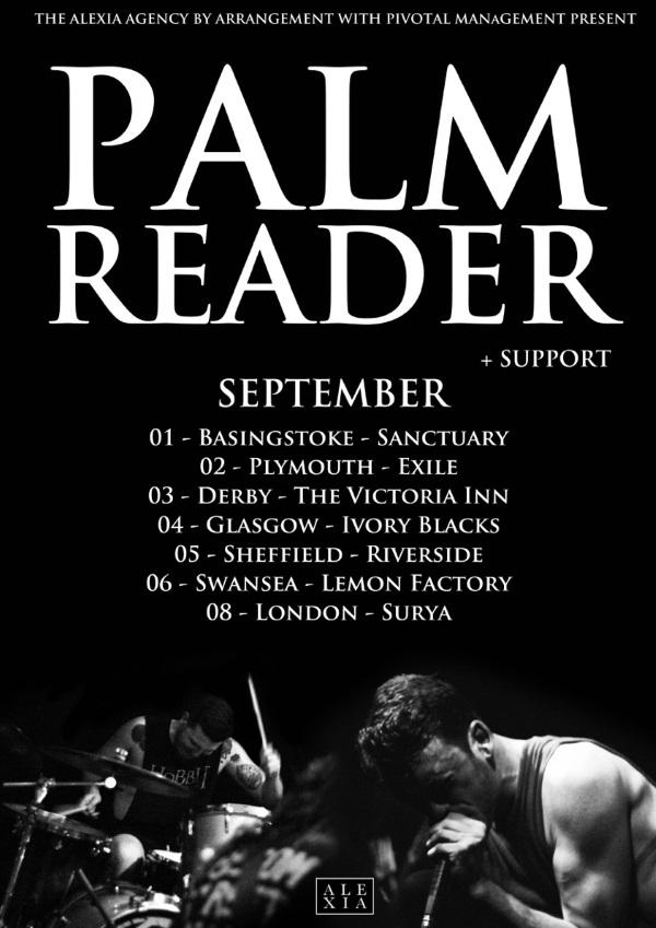 Palm Reader 2015 September UK Tour Poster