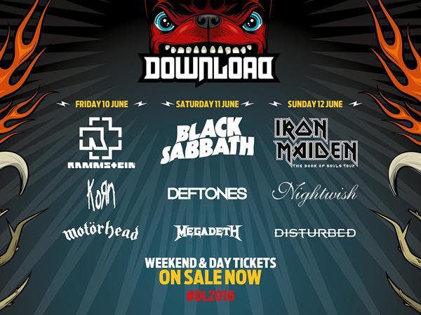 Download Festival 2016 Second Announcement Poster including Deftones, Megadeth and KoRn
